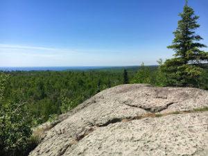 Rocky outcrop overlooking Lake Superior, near Split Rock River.