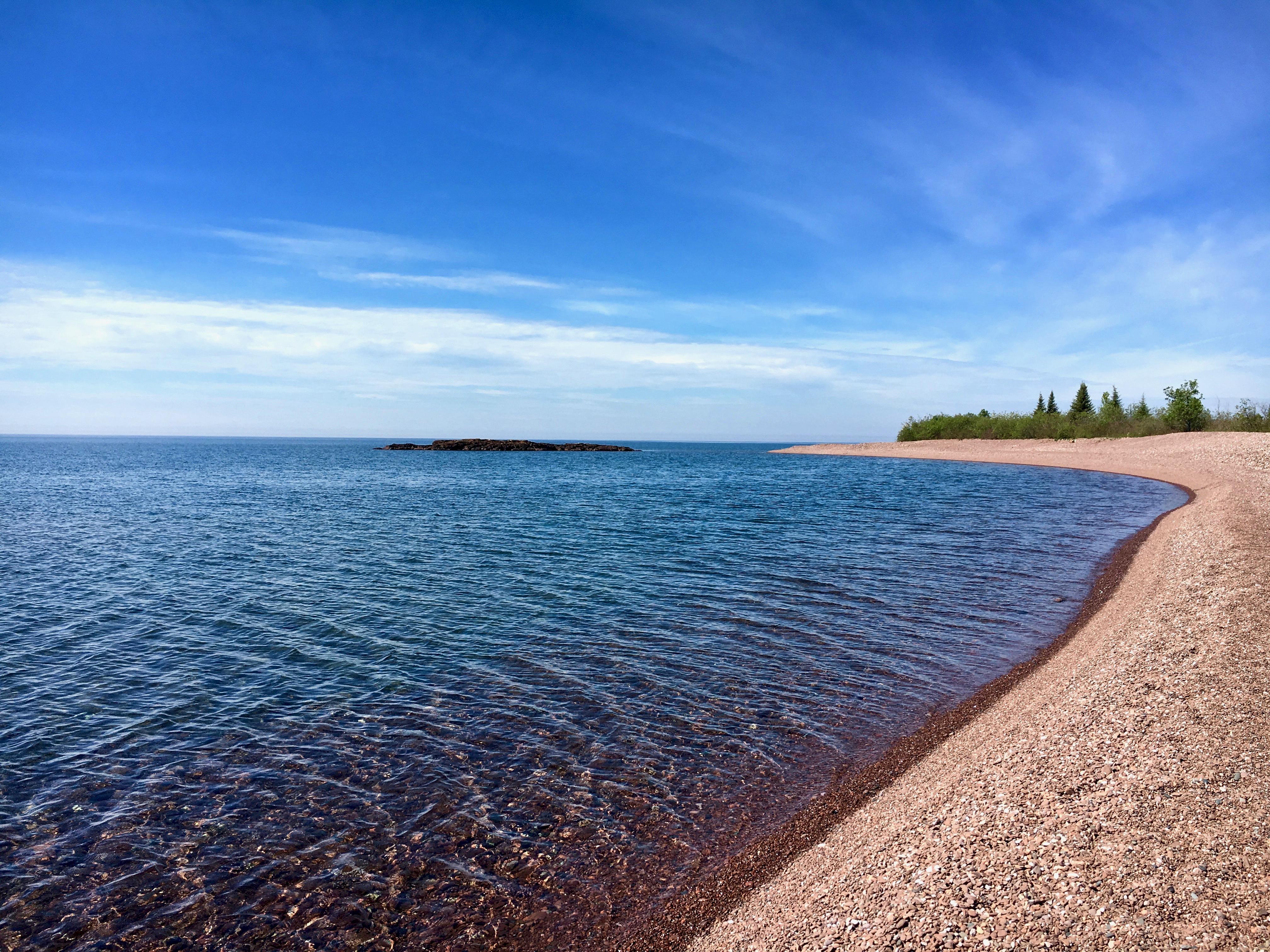 View of Lake Superior beach near Camp 20 Road.