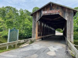 Old covered bridge in Michigan.