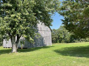 Gray barn in the countryside near Dynard Elementary School and Leonardtown.