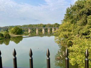 View of bridge over Potomac near Little Pool.