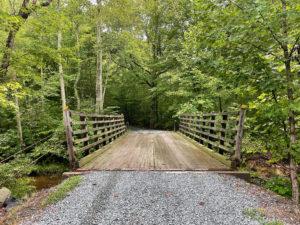 Spacious bridge in forest near Neabsco area of Potomac Heritage Trail.